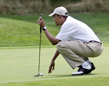 ObamaGolfing