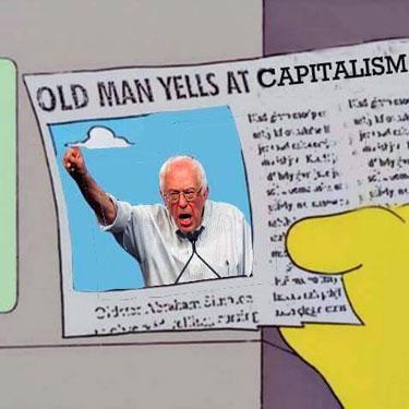 BernieSandersYells