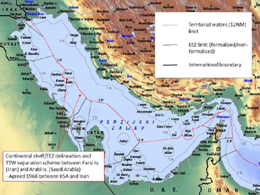 Saudi-Iran-maritime-delinea