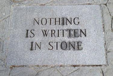 NothingWritteninStone